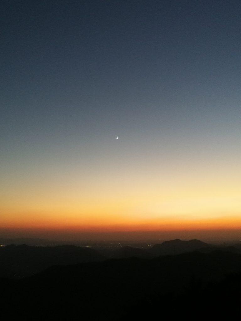 大野山の夕日2
