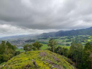 八上城から見渡せる篠山盆地。